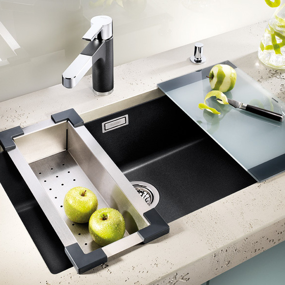 Sinks and taps for german kitchens blax kitchens for German made kitchen sinks
