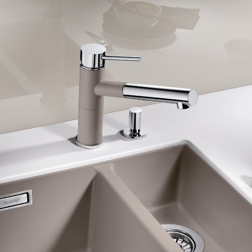 Sinks and taps for german kitchens blax kitchens for German kitchen sinks