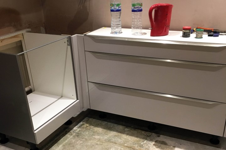 Gloss White With Stainless Handles Stanstead Abbotts Blax