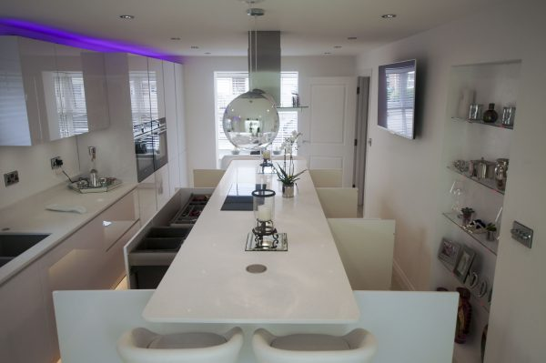 white high gloss kitchen installed in Buntingford