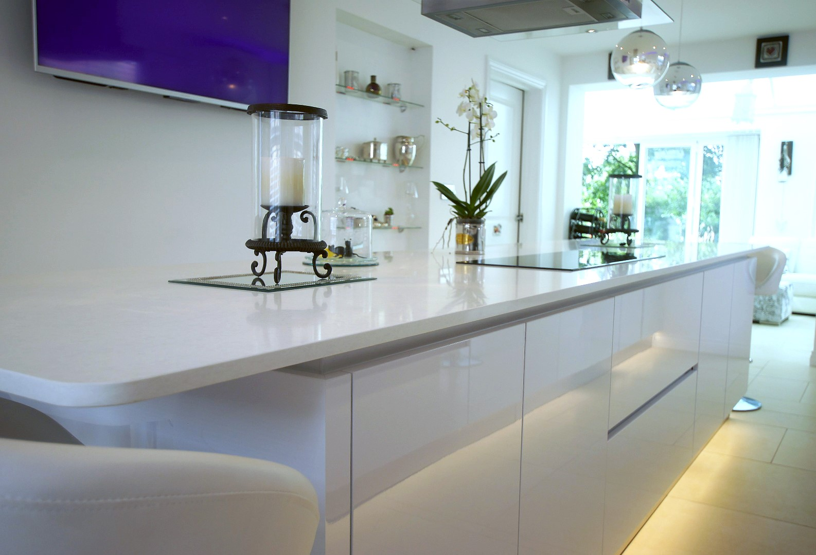 White High Gloss German Kitchen - Buntingford | Blax Kitchens Ltd