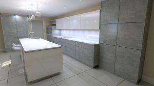 3d render of german kitchen design