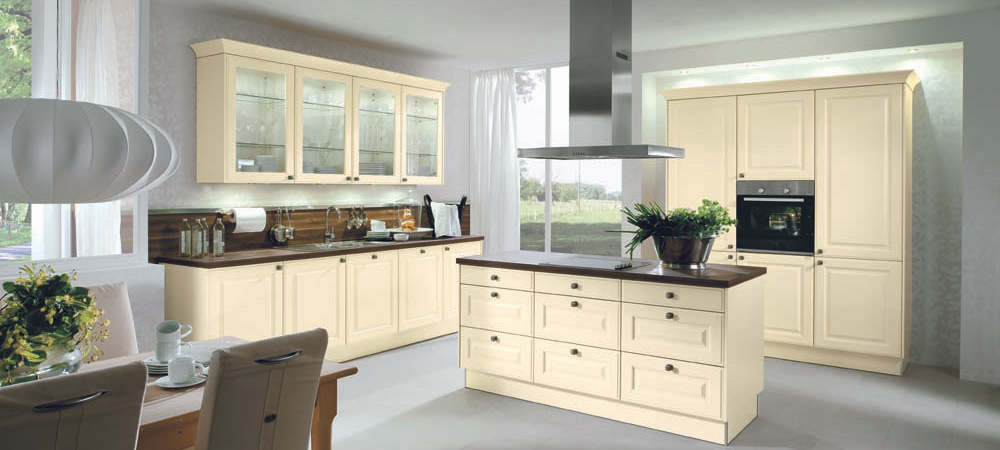 beige german kitchen example in traditional country style
