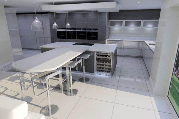 german kitchen design with island