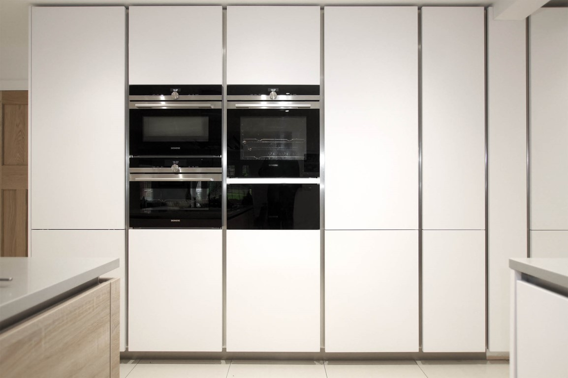 Hacker German Kitchen Wall Of Cabinets With Built In Siemens Appliances