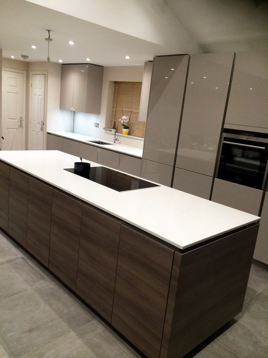 High Gloss Handleless German Kitchen Much Hadham Blax