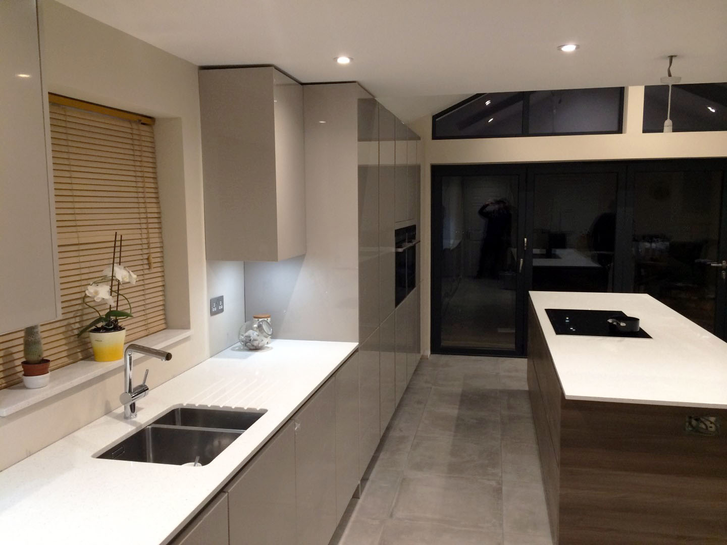 High Gloss Handleless German Kitchen Much Hadham Blax Kitchens Ltd