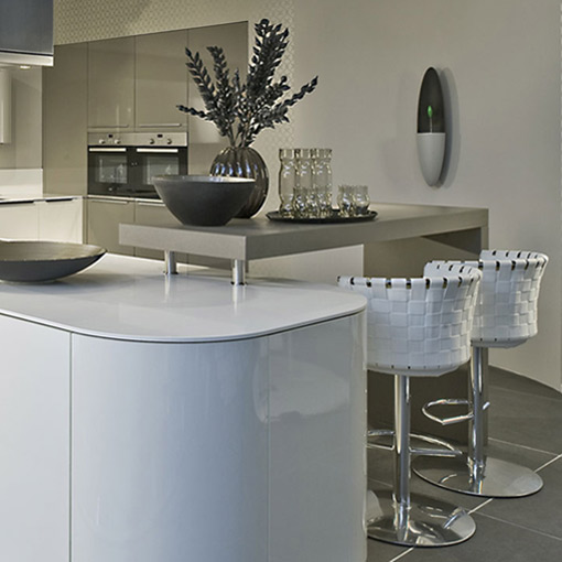curved german kitchen