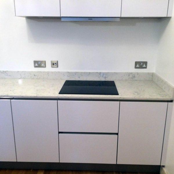 Gloss Matt Wood Kitchen Finishes: Handleless Matt Finish Kitchen In Wansted