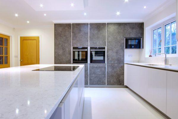 handleless kitchen design. matt taupe \u0026 slate \u2013 northwood ha6 handleless kitchen design