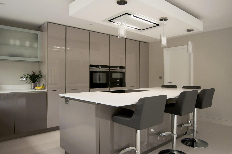 ... Haecker Lack Matt Schwarz #42: Amazing Cashmere Gloss Hacker Kitchen  With White Quartz Worktop ...