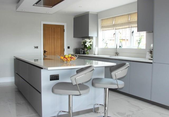 pearl grey german kitchen wadesmill