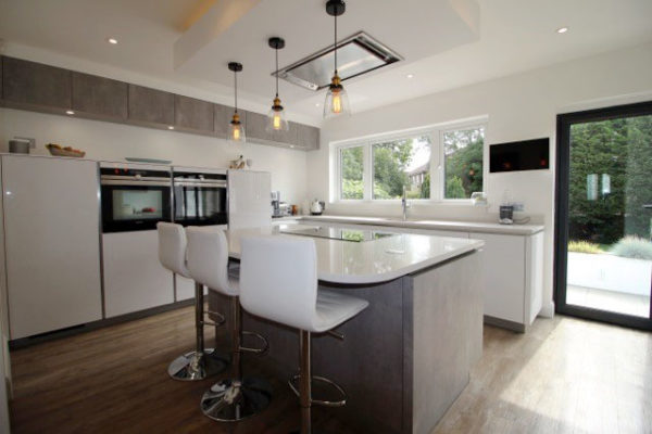 polar white gloss hacker kitchen by blax german kitchens