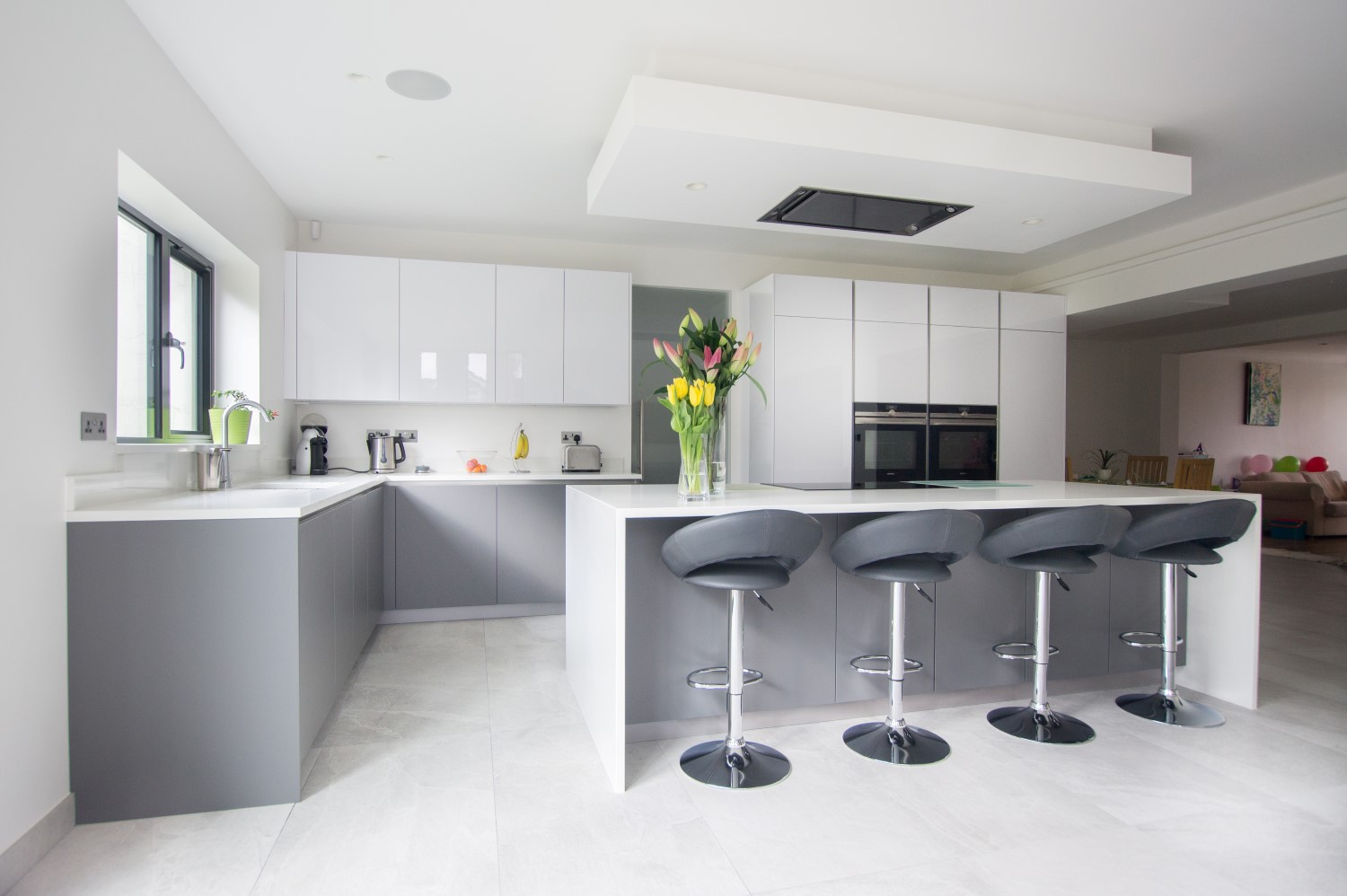 Image Result For Grey And White Kitchen Uk