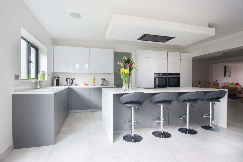 High Gloss White Amp Matt Grey Hatfield Blax Kitchens Ltd