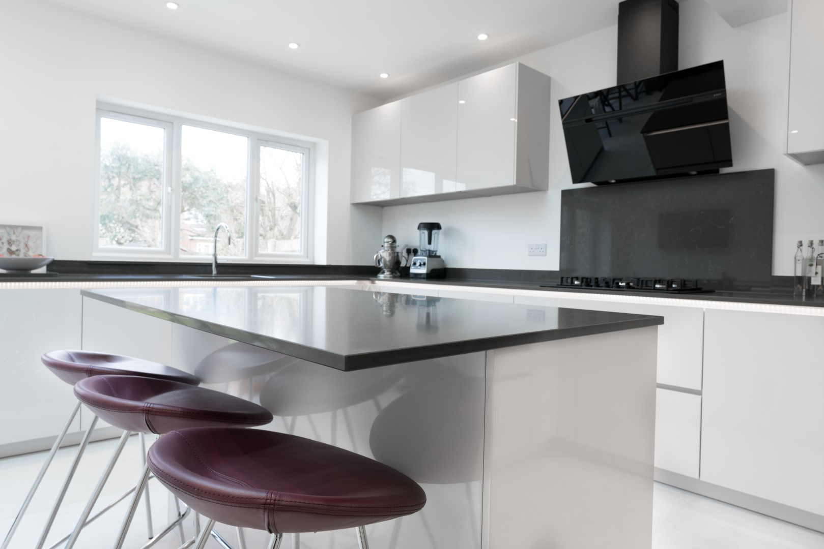 High Gloss White, Handleless - Harrow (HA2) | Blax Kitchens Ltd
